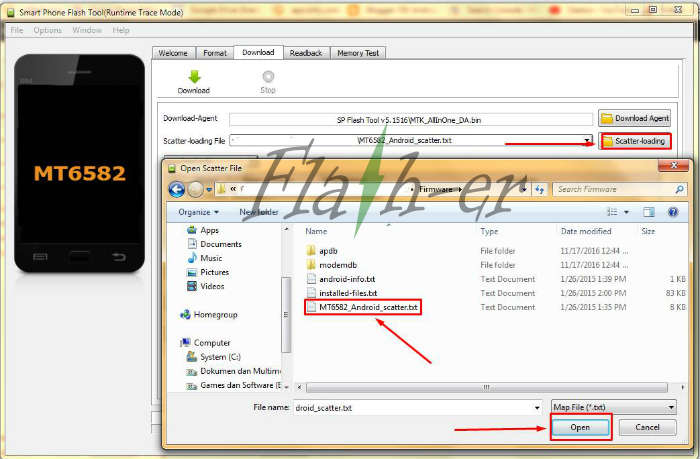How To Flash Alcatel One Touch Pixi 4 4034N Firmware via SP Flash Tool
